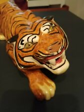 """New listing handmade Tiger ceramic figurine could be mascot for Detroit Tigers 22"""" long"""