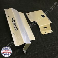 Toyota LandCruiser VDJ V8 MODELS 76/78/79 - 2 Piece 4mm Stainless Bash Plates