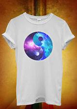 Ying Yang Galaxy Space Cool Hipster Men Women Unisex T Shirt Tank Top Vest 450