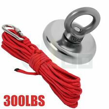 Fishing Magnet Kit 300 Lb Pulling Force Strong Neodymium Treasure Hunt With Rope
