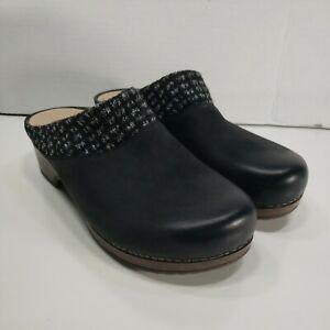 Women's Dansko Bev Burnished Nubuck Leather Backless Clog Slide Mule Size 39 8