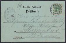 30267) HELGOLAND 1899 Mondschein AK Nordspitze nach Marienbad Böhmen