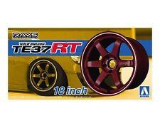 Aoshima 053027 1/24 Tuned Parts #24 Volk Racing TE37RT 18 Inch Tire & Wheel Set