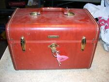 Vintage Samsonite Streamlite Luggage Train Case with Original Key