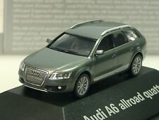Herpa Audi A6 allroad quattro grau metalic - PC dealer model - 379567 - 1/87