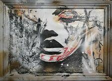 Tableau moderne portrait streetart acrylique cotation Artprice Drouot Artmajeur