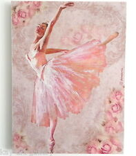 Wall Picture Plaque , Vintage Retro style Handmade / Ballet / Decoupage