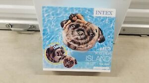 INTEX PUG FACE ISLAND PUPPY DOG POOL FLOAT INFLATABLE NEW SEALED BOX