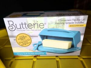 Butterie Butter Dish with Butter Spreader & Cradle Blue BPA Free NIP BTRBLU1004
