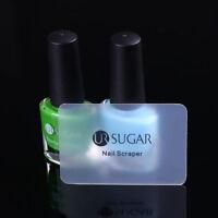 2x Semitransparent Matte Nail Art Stamping Scraper Mini Stamp Card Tool UR SUGAR