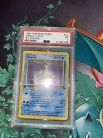 1999 Pokemon Fossil Lapras Holo 1st Edition #10/62 PSA 1 POOR - POP 1