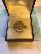 Vintage 1959 ZEFYR swiss 15 Jewel Ruby Gold Watch Face And Movements