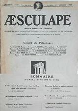 Aesculape n10- 1923 : L'Art et la Médecine (Voir Sommaire Photo)