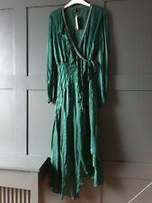 ANTHROPOLOGIE Bl^nk London Holly Ruffled Wrap Dress Large £118.00 Green