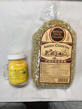 Amish Country Medium White Hulless Popcorn & Ball Park Popcorn Salt