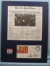 1989 - Geogre Bush Sworn in as President and Vice President Dan Quayle autograph