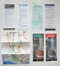 Lot of 7 New York Bus Subway Brochures Leaflets Airports Holidays NY