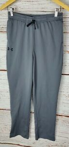 Under Armour Boys XL Gray Athletic Active Wear Sportswear Pants Ankle Snap Youth