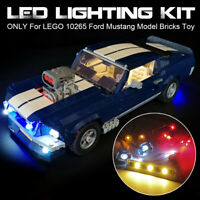 🔥 ONLY LED Light Lighting Kit For LEGO 10265 Ford Mustang Model Bricks Toy #.