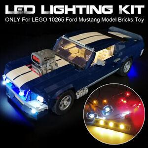 🔥 ONLY LED Light Lighting Kit For LEGO 10265 Ford Mustang Model Bricks Toy #.