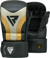 RDX MMA Gloves Sparring Grappling Mitts Combat Training Punching Kickboxing