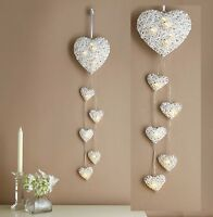 LED Light Hanging Hearts Wall Lights Romantic Love Fairy Lights NEW BOXED