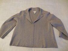 Chico's Silver Knit Jacket Misses L Sparkle Cotton Blend Special Chicos Sz 1