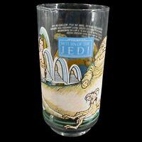 Star Wars Return of the Jedi Burger King Glass 1983 Jabba & Princess Leia Slave