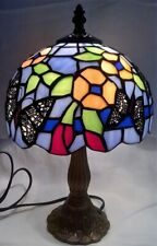JULIANA HOME LIVING TIFFANY STYLE BUTTERFLIES & FLOWERS DESIGN TABLE LAMP L7547