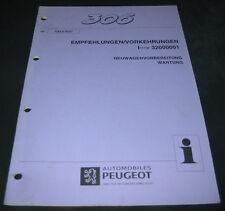 Werkstatthandbuch Peugeot 306 Empfehlungen Vorkehrungen Stand 05/1997