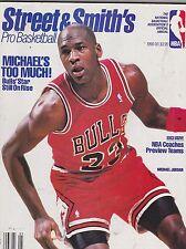 1990-91 STREET & SMITH BASKETBALL yearbook magazine - MICHAEL JORDAN