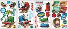 33 New THOMAS THE TRAIN WALL DECALS Tank Engine Stickers Boys Trains Room Decor
