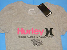 NWT Hurley SOUTH CAROLINA GAMECOCKS T-Shirt Women Sz S Gray Perfect Crew