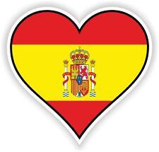 SPAIN HEART vinyl STICKER bumper decal LOVE FLAG MOTO LAPTOP TABLET