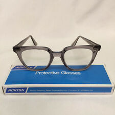 Vintage Norton Safety Glasses Eyeglasses Steampunk Style 2850 w/Poly Lenses