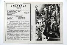 TULIPE NOIRE ALAIN DELON VIRNA LISI 1964 RARE EXYUGO MOVIE PROGRAM