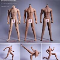 1/6 Male Super Flexible Seamless Body Model Toys 12'' Action Figure JIAOU DOLL