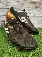 Umbro men's Speciali football boots Size UK 7.5 black/white/gold.