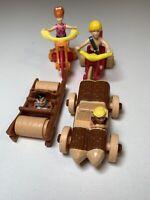 4 Flintstones McDonalds Happy Meal Toys. Good Condition