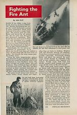 1958 Fighting the Fire Ant Invasion Pests Mobile Alabama Agriculture