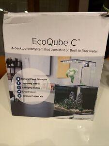 EcoQube C Aquarium Remote Controlled Science Kit Ecosystem with Accessories NEW
