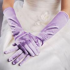 Paire de gants longs satin pour mariage : LONG 40 cm - coloris mauve