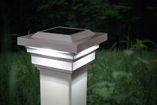 Classy Caps SL078W 4 x 4 PVC Regal Solar-Powered Lights Post Cap - White
