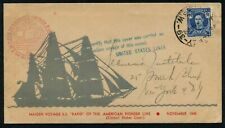 """AUSTRALIA to USA - 1945 KGVI 2.5d 'BLUE' Maiden Voyage of SS """"Rapid"""" [A9864]"""