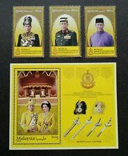 Malaysia Installation KDYMM Sultan Kedah 2018 Royal (stamp + ms) MNH *gold ink