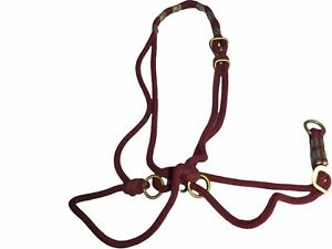 Be Nice Halter,  DS Size, for Draft X, Burgundy. ( ref. 9Y)