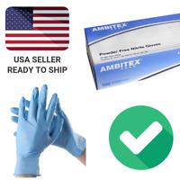 Blue Nitrile Gloves Powder Free (Latex Free) Size Large - 100 Per Box