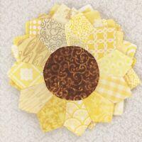 """Quilting Dresden Plates, Sm Fall Flowers, 7.5"""" Handmade, Set Of 6, No Raw Edges,"""