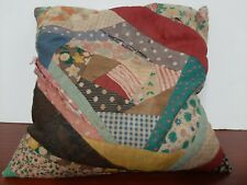 Antique Homemade patch work Cedar Filled quilted Pillow Farmhouse Country Decor