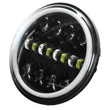 7inch Round LED Headlight /w Halo Angle Eyes Fit for Motorcycle JEEP Wrangler